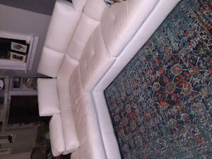 Beautiful white couch and chaise for sale