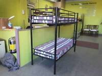 """2 ft 6"""" Bunk Beds With 2 Mattresses - Can Deliver For £19"""