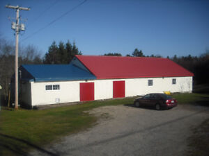 Excellent building with 3 beautiful acres!!