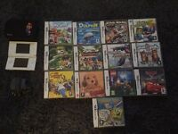 Nintendo DS lite with 13 games & case, immaculate condition £65
