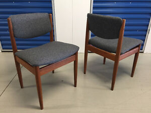 Teak FINN JUHL Dining Chairs (newly upholstered) Mid Century Mod