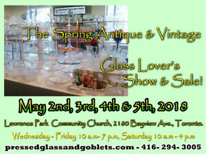 The Spring Antique & Vintage Glass Lover's Show & Sale.