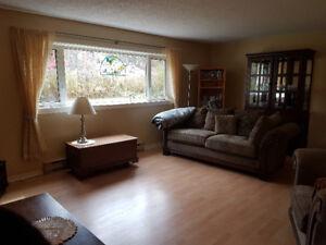 Two-bedroom apartment in quiet Huntsville building avail Jan.1st