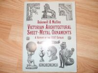 20.00 Victorian Architectural sheet metal ornaments