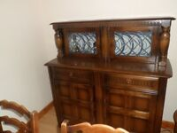 sideboard & dining table 6 chairs