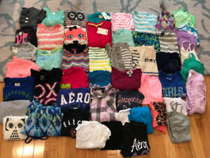 Girls brand name tops and sweaters— Size 10-12