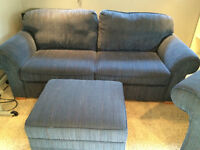 Couch & Chair with Ottoman