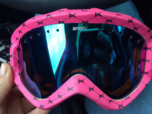 PINK AND BLACK ANON GOGGLES