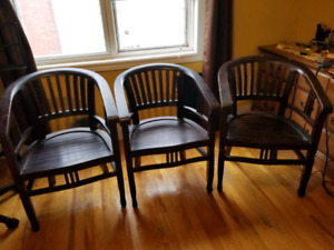 Four Solid Wood Chairs