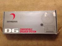 Diamond D6 convertible speaker system