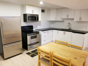 2 Full Bedroom Basement Apartment  newly Renovated with lots of