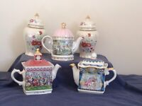 Sadler collectable tea pots & Ginger jars