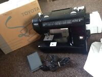 Toyota ES series jet black sewing machine, faulty needs new foot pedal