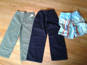 Boy's size 7 Pants (one NWT),  size 6-7 swimsuit (GAP)