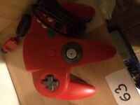 Red/blue/green n64 official gamepads