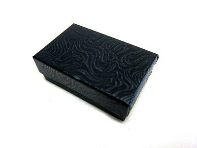 100 Black With Swirl Cotton Filled Jewelry Gift Boxes 3 14 X 2 14 X 1