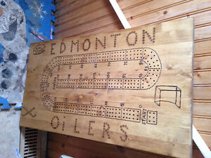 one of a kind   RARE OILER CRIB BOARD HOME CRAFTED