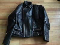 Male Motorbike Leather Jacket