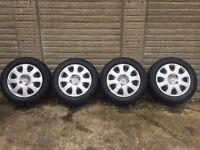 Peugeot 307 wheels + trims genuine 4 stud
