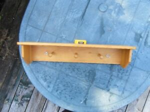 PINE SHELVES and PEGS, ETC. - multiple items