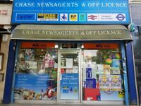 CHASE NEWSAGENTS & OFF LICENCE IN WIMBLEDON FOR SALE (1) , REF: RB275
