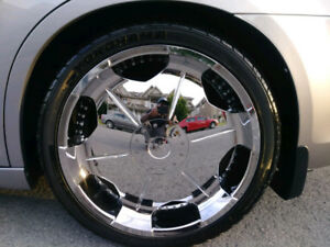 PLATINUM SHIELD 22 CHROME RIMS WITH TIRES