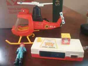 Fisher Price Camera, Helicopter and Tonka Fireman