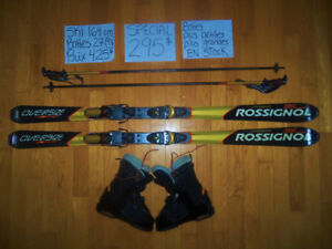 8 KITS Skis alpin parabolique & twin tips 160-165 cm.