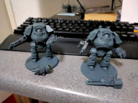 Warhammer characters and magnetised dreadnoughts
