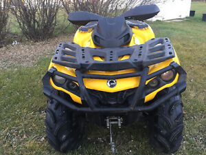 REDUCED TO SELL- 2015 CAN-AM OUTLANDER 800 XT