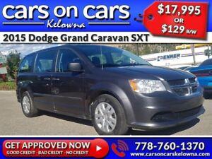 2015 Dodge Grand Caravan SXT w/BlueTooth, USB Connect, Satellite