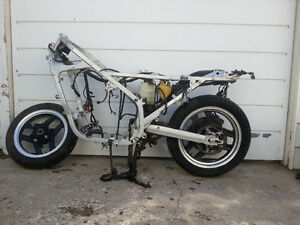 1984 Honda VF1000F Frame w/ front and rear wheels