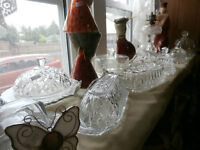 Selection of Glass and Crystal Butter Dishes at KeepSakes