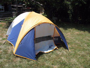 tents,  sleeping bags, mattresses, books on wilderness camping