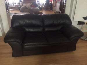 Like new real leather couch