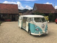 Vintage VW kombi for wedding hire