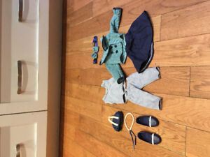 18 inch doll clothes (maplelea doll) $35 great condition.
