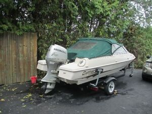 17ft - 2002 Cutter bowrider with 50 honda easy load trailer