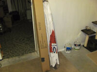 MOLSON CANADIAN BEER PATIO UMBRELLA - NEW NEVER USED