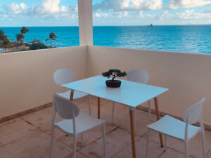 Apt  little corail,4 pers,2mn plage, vue mer  gosier, Guadeloupe