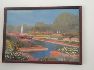 Decorative framed Mughal Gardens, New Delhi print wall hanging London Ontario image 2