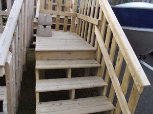 steps and small deck