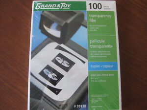 Transparency Film*100 Sheets, Grand & Toy*