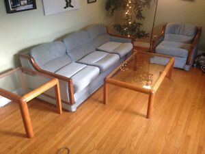 Couch, love seat & tables for sale
