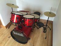 Impact Drum Co. 5 Piece Blue Starter Drum Kit