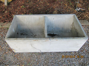 Vintage Concrete Double Sided Laundry Sink Circa 1958 Very Rare