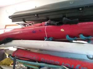 Wind surf boards × 3   with sails etc