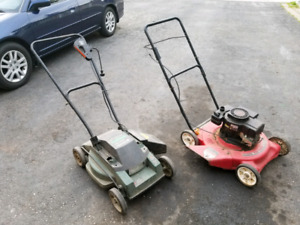 2 lawnmowers. Don't work. Selling as is