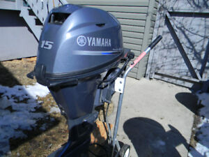 Yamaha 15 hp short shaft 4 stroke,electric start with tank