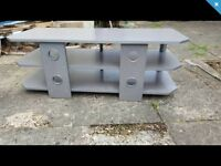 FREE Tv stand, SILVER EFFECT WOOD. VERY STURDY